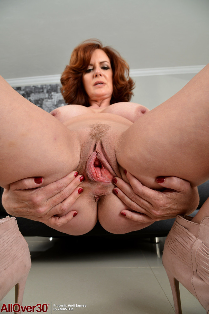 Gigantic Jugged Red-haired Andi James..
