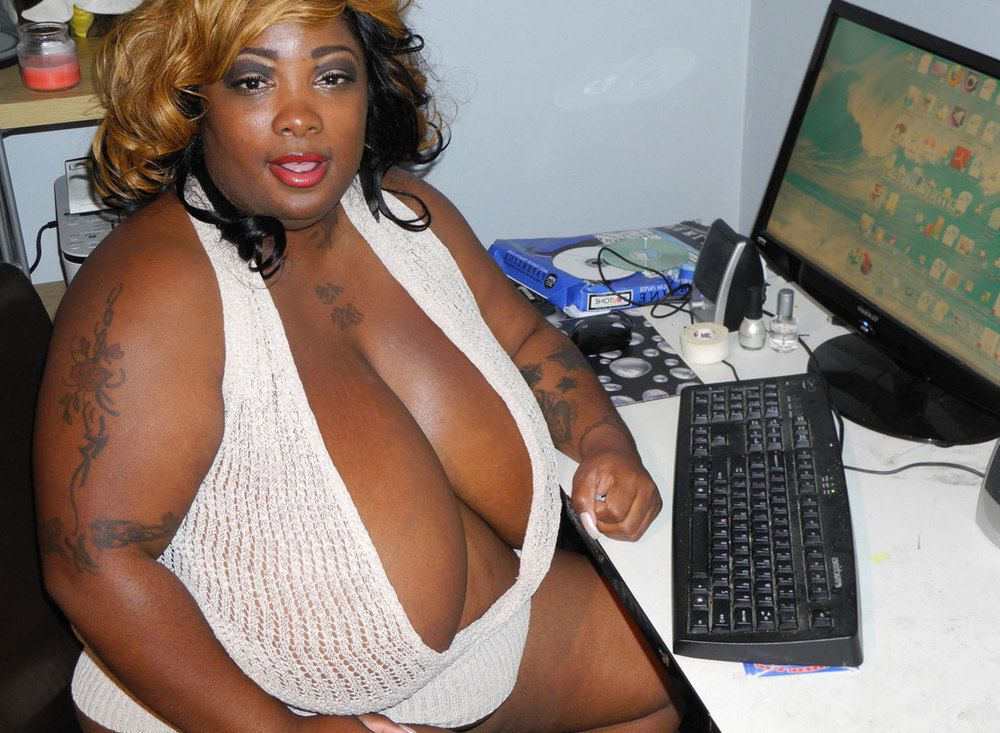 Ebony Granny-programer with fat boobs...
