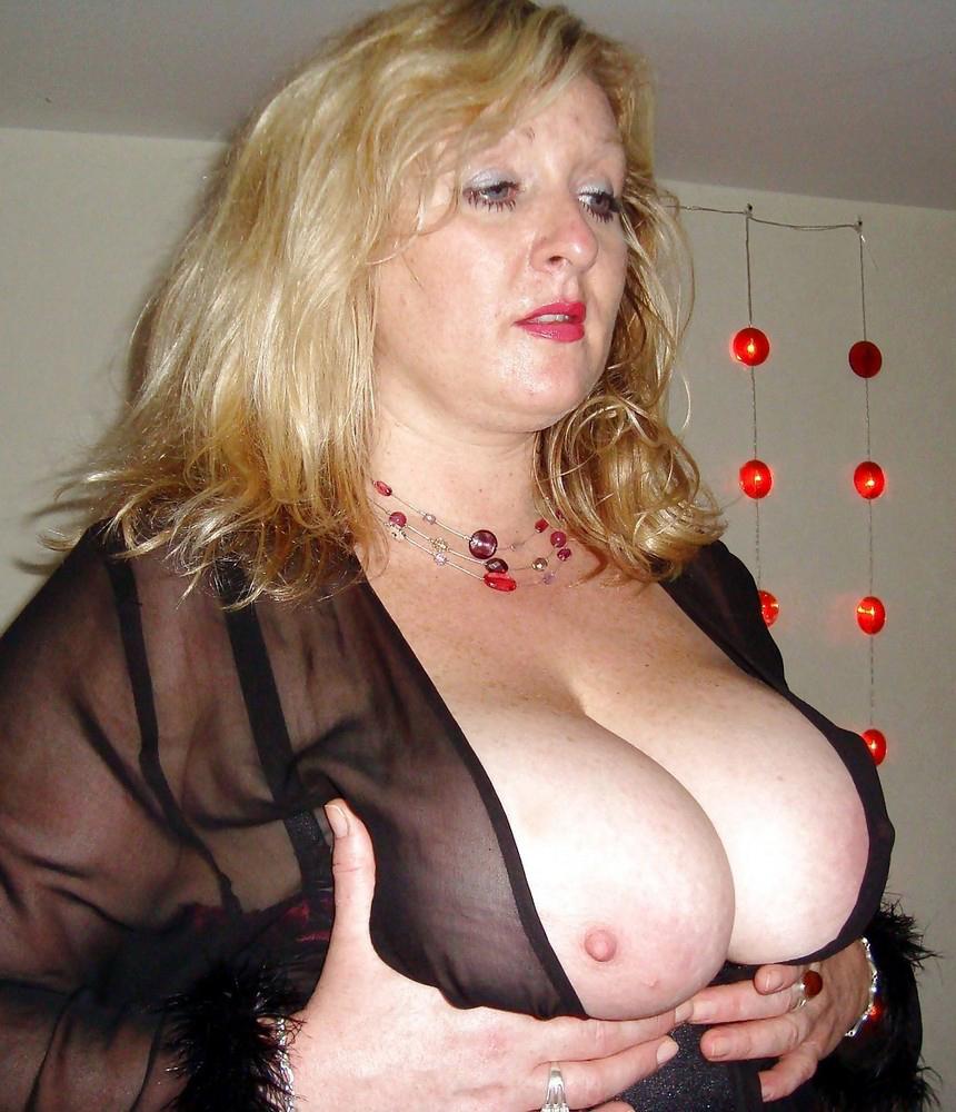 Round mature  her udders