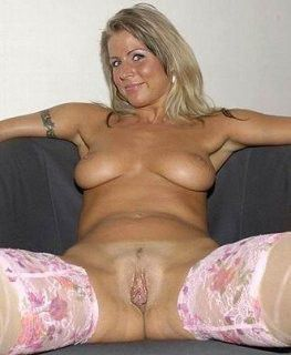 Chesty light-haired ex-wife nude in..